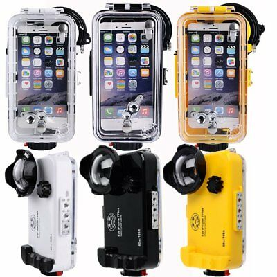 Seafrogs 60m/195ft Waterproof Underwater Case Wide Angle Lens For iPhone 7 Plus