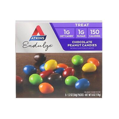 Atkins Nutritionals Endulge Treat Chocolate Peanut Flavoured Candies 5 Per Pack