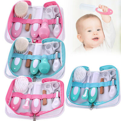 Baby Nursing Kit Nail Clippers Trimmer Brush Comb Portable Newborn Supplies 1Set