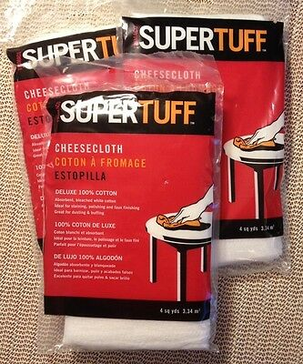 Lot (3) Supertuff Cheese Cloth 100% cotton 4 sq. yd. packages