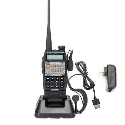 Baofeng UV-5XP 8W/5W/1W USB 3000mAh Walkie Talkie VHF/UHF 2-Way Radio +Headsets