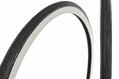 """PAIR 24 x1 3/8"""" (37-540) CLASSIC WHEEL CHAIR TYRES SMOOTH SEMI-SLICK WHITEWALL"""