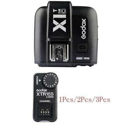 Godox X1T-C TTL HSS 1/8000s Flash Trigger Transmitter +XTR16S Receiver For Canon
