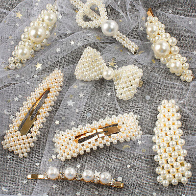 Fashion Women Girls Faux Pearl Hair Clips Hair Pin Korean Hairpin Jewelry Gifts