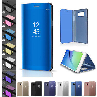 Mirror View Case For Samsung Galaxy J3 J4 J5 J6 J7 2017/2018 Flip Smart Cover