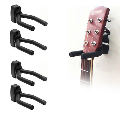 4x Guitar Hanger Adjustable Wall Mount Display Bracket Hook Holder Bass Stand UK