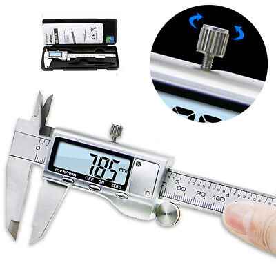 """Stainless Steel Electronic Digital Vernier Caliper Micrometers Guage LCD 6""""150mm"""