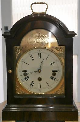 Knight & Gibbins Contempary Mahogany Musical Bracket Clock