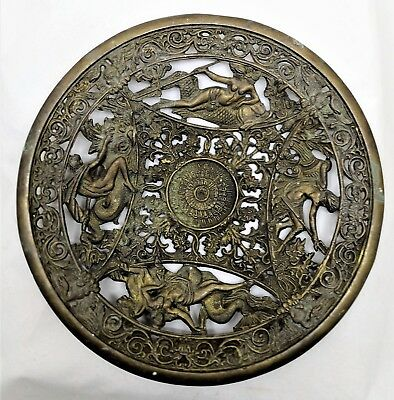 Vintage Bronze Roman wall Deco Plate Good for Gift nd Collection Artist Mark