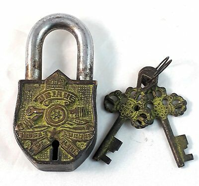 Architectural & Garden The Cheapest Price Vintage Old Collectible Crown Engraved Improved Hand Made Brass Padlock London Hardware