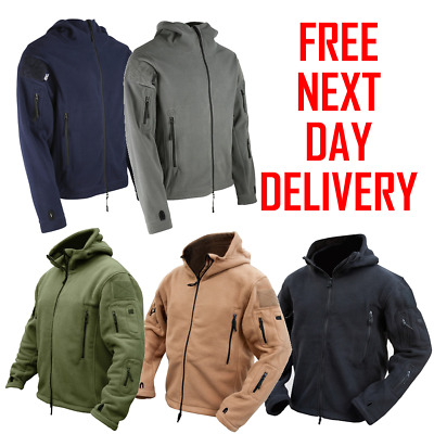 27ccafb26a84 Recon Tactical Hoodie Zip Up Fleece Combat Army Security Jacket All Colours