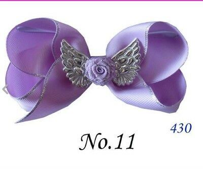 "20 BLESSING Good Girl Boutique 4.5""  ABC Hair Bow Clip Angel Wing Accessories"