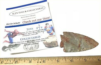Very Nice G10 Fractured Base 3 1/8 Inch Flint Ridge Franklin OH Point W/COA