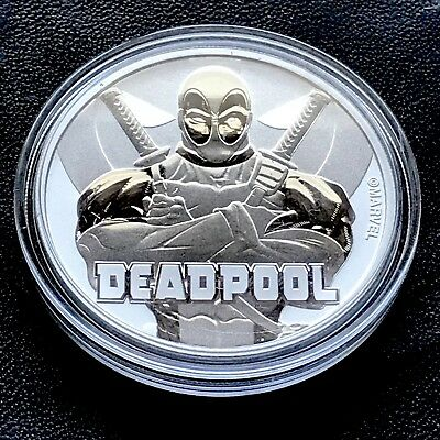 Deadpool Marvel Comics 1 oz .999 Silver Coin $1 2018 Tuvalu Super Hero New