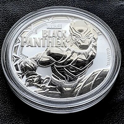 Black Panther Marvel Comics 1 oz .999 Silver Coin  $1 2018 Tuvalu Super Hero New