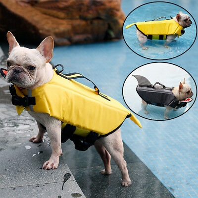 Life Jacket Hand Harness Swimming Saver Preserver For Pet Dog Puppy Size XS-XL