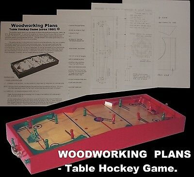WOODWORKING PLANS - Munro TABLE HOCKEY game D-I-Y plans