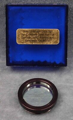 """Lumicon Oxygen Iii 1.25"""" Filter For Astronomy Telescope In Case - Free Usa Ship"""