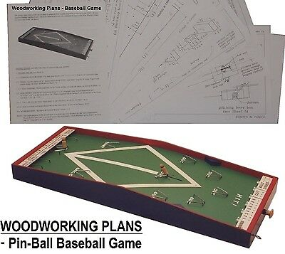 WOODWORKING PLANS - Pin-ball BASEBALL GAME D.I.Y. plans