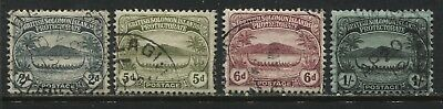 Solomon Islands 1908 various 2d to 1/ used