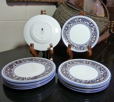 """Wedgwood Dark Blue Florentine 6"""" Bread and Butter Plate W1956 - 9 Available"""