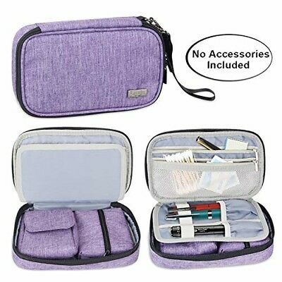 Luxja Diabetic Supplies Travel Case, Storage Bag for Glucose Meter and Other Dia