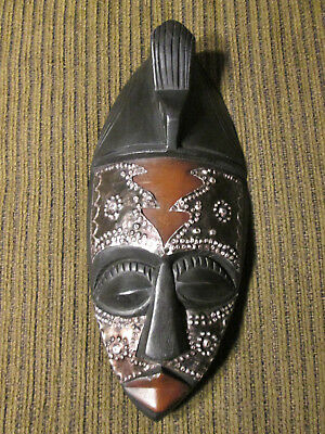 Wooden wall mask from Ghana / Africa (#54)