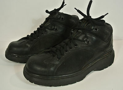 Dr. Martens Black Leather Ankle Boots Made in England UK 6, US Mens 7, Womens 8