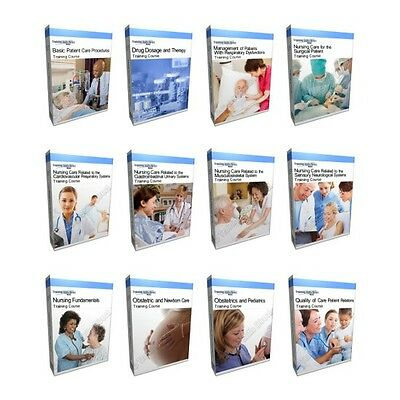 Huge Nursing Training Course Manual Collection Bundle