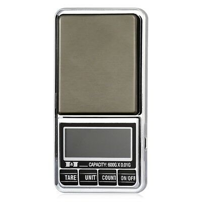600g 0.01 DIGITAL ELECTRONIC POCKET JEWELLERY SCALES 10 milligram Micro-gm C4D4)