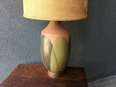 David Cressey Table Lamp Mid Century Modern Architectural Pottery Vintage Eames