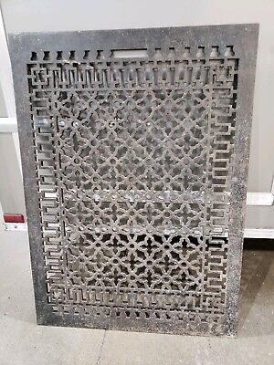 Big Large Cast Iron Floor Vent Grate Antique  29 By 40 Inches