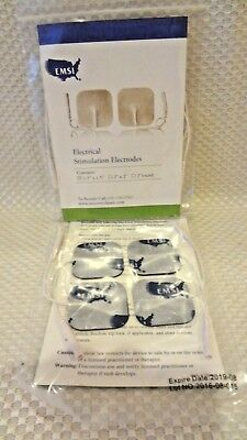 """NEW SEALED 8 EMSI 1.5"""" x 1.5"""" ELECTRICAL TENS STIMULATION ELECTRODES"""