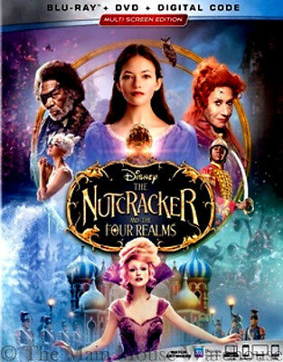 Authentic The Nutcracker and the Four Realms New Blu-ray DVD & Digital Copy Code