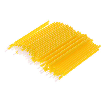 100x Dental Disposable Plastic Tooth Teeth Applicator Brush Sanitary Yellow