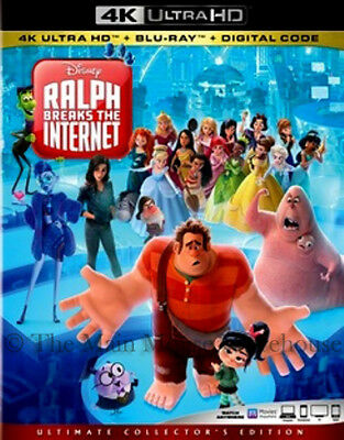 Wreck It Ralph 2 Ralph Breaks The Internet 4K UHD Blu-ray Digital Copy Pre-Order