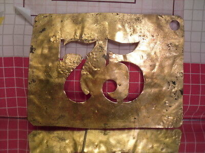 Antique Brass Apple or Cider Barrel Stencil number 75