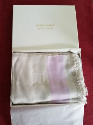 Estee Lauder Scarf by Aerin Lauder Limited Edition - Beige & Pink - New in Box