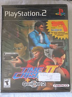 Time Crisis II + Guncon 2 Sony Playstation 2 PS2 Namco BRAND NEW FACTORY SEALED
