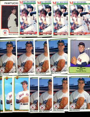 Mike Rochford  Bulk Lot Of 15 Baseball Cards Red Sox Methuen Massachusetts