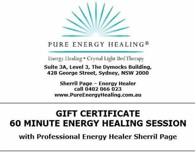 60 Minute Energy Healing Session GIFT CERTIFICATE
