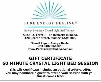 60 Minute Crystal Light Bed GIFT CERTIFICATE INCLUDES BONUS 2-FOR-1