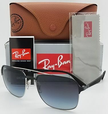957eb139b7d Ray-Ban RB 3570 90048G Silver Top Black Metal Sunglasses Grey Gradient Lens  58mm