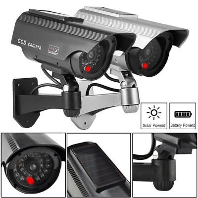 Outdoor HD Solar Powered Fake Security Camera CCTV Surveillance​ Network IR