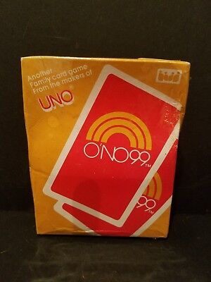 New Ono 99 Card Game From Uno 1983 Igi Games Chips Instructions Sealed