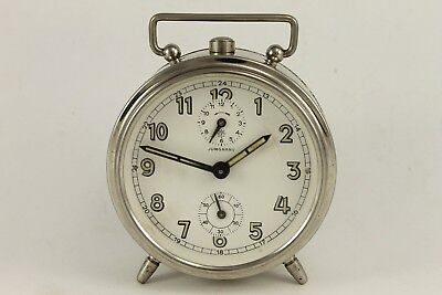 Antique German JUNGHANS  Mantel Alarm Clock W.231 Art Deco 1930's