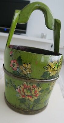 Chinesische Wasser Eimer - Holz - Beautiful antique Chinese water bucket - Wood