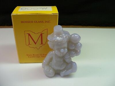 McGoo Mosser Clown Collectible Figurine With Box - Light Gray Glass
