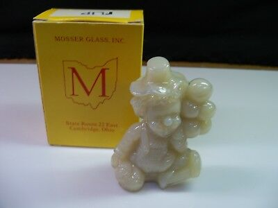 Flip Mosser Clown Collectible Figurine With Box - Tan Glass