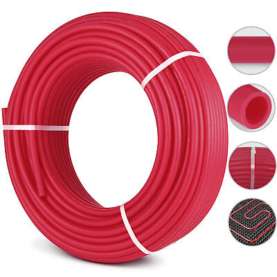 """1/2"""" x 500ft PEX Tubing/Pipe O2 Oxygen Barrier EVOH Industrial Commercial Red"""